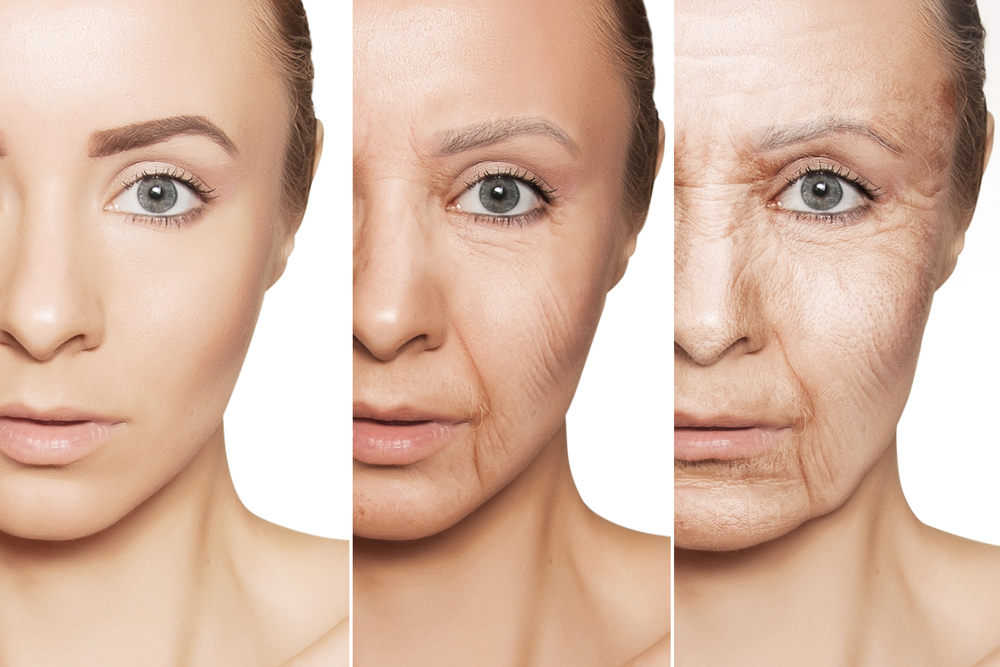 What happens to skin when it ages?